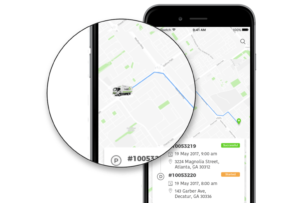 Real-time driver GPS location tracking