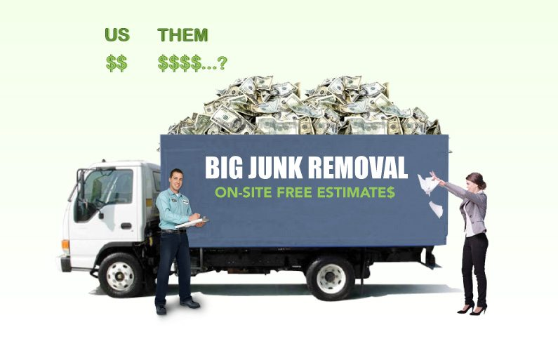Learn the truth about big junk removal franchises in Long Island, NY