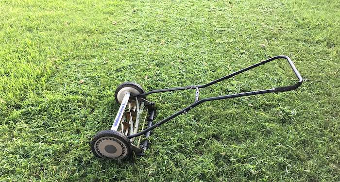 Old push lawn mower