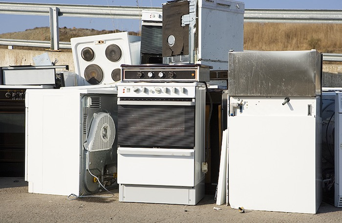 disposing old kitchen appliance