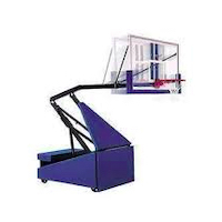 portable basketball goal removal