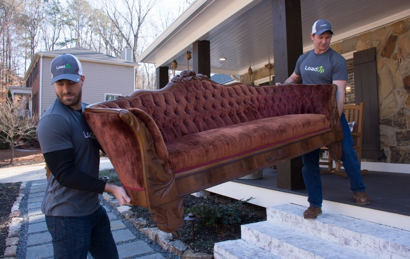 LoadUp hauling away an old couch.