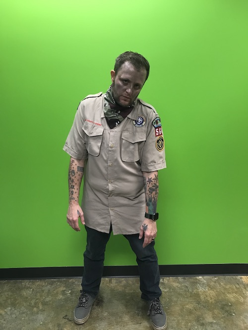 boy scout zombie halloween costume
