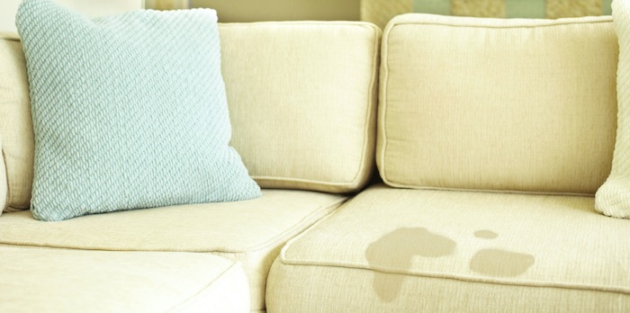 how to clean a stained fabric couch