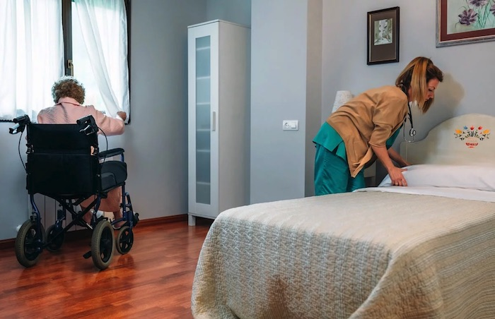 Downsize home for wheelchair accessibility in hospice