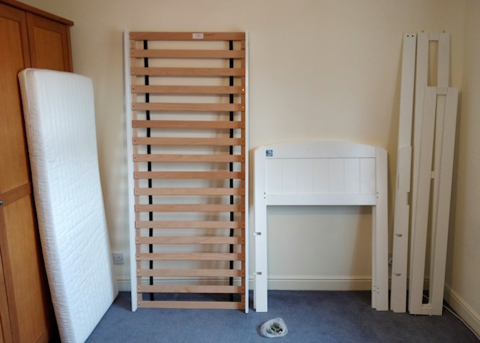 how to take apart a bed frame