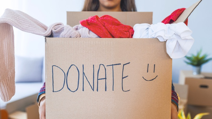 declutter closet and donate clothes
