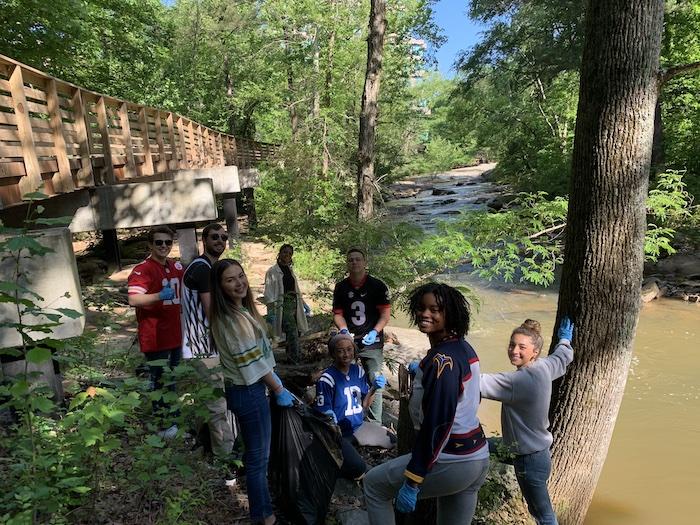 Chattahoochee River community service project